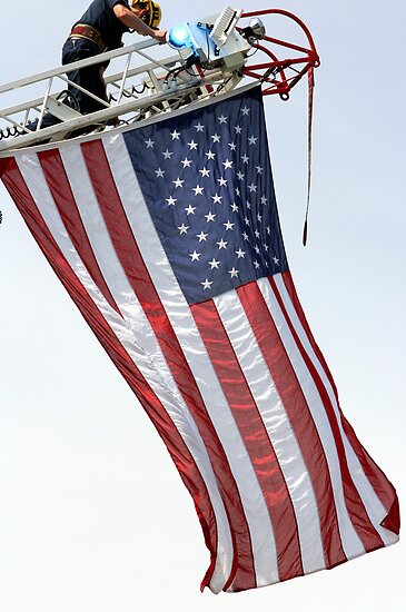 USA Flag Flying High by DARRIN ALDRIDGE