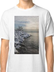 Clearing Snowstorm - Lake Ontario, Toronto, Canada Classic T-Shirt