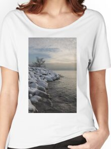 Clearing Snowstorm - Lake Ontario, Toronto, Canada Women's Relaxed Fit T-Shirt