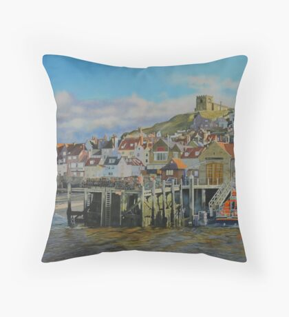 The Whitby Lifeboat Station Throw Pillow