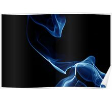 Dragon Smoke - Blue Blaze Poster
