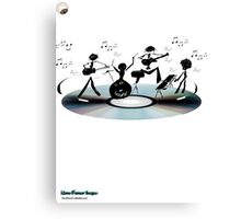 Sound Band - In the head Canvas Print