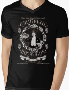"Chef Dracula's Restaurant: ""For The BITE of your LIFE!"" (Vintage Sign) Mens V-Neck T-Shirt"