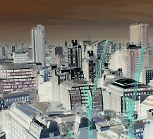 London from the Air - inverted by JoshDrez