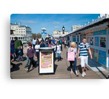 Bright and Sunny: Brighton Pier, UK. Canvas Print