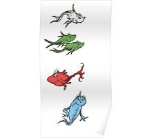 One Fish, Two Fish, Red Fish, Blue Fish Poster