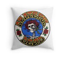 Grateful Dead Roses Throw Pillow