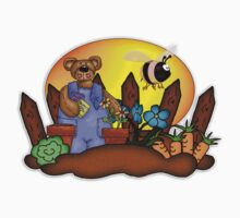 Father's Day Gardening Bear T Shirt, Matches Card by Moonlake