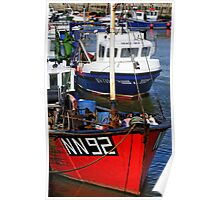 Fishing boats, West Bay Harbour, Dorset, UK Poster