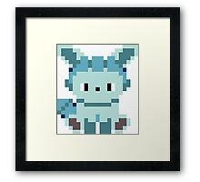 Pokemon 8-bit Glaceon Framed Print