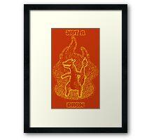 Not a Dragon Framed Print