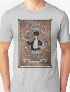"""Chef Dracula's Restaurant: """"For the BITE of your LIFE!"""" (Old Paper Poster) Unisex T-Shirt"""