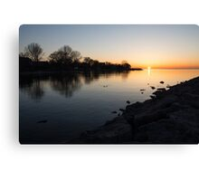 Greeting the New Day on Lake Ontario in Toronto, Canada Canvas Print