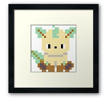 Pokemon 8-bit Leafeon Framed Print