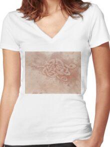 Celtic whip snake Women's Fitted V-Neck T-Shirt