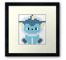 Pokemon 8-bit Vaporeon Framed Print