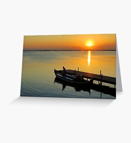 "Sunset in ""L'Albufera"" Greeting Card"