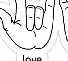 Peace Love Baylor [black/white] Sticker