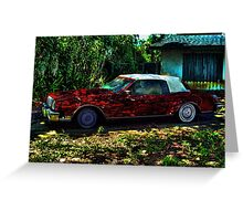 Red Jello Car Greeting Card