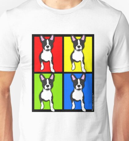 Inquisitive Boston Terrier Pop Art Unisex T-Shirt