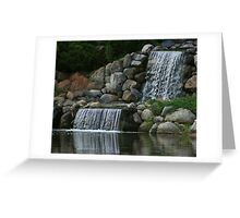 The Huron and The Waterfall Greeting Card