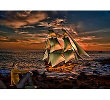 When the Boat comes in~ Photographic Print