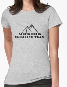 Mordor Climbing Team Womens Fitted T-Shirt