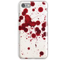 Blood Spatter 7 iPhone Case/Skin