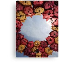 Governor's Island Umbrella Sculpture Canvas Print