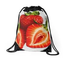 Strawberries Drawstring Bag