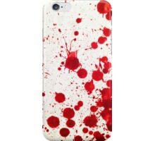 Blood Spatter 2 iPhone Case/Skin
