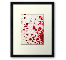 Blood Spatter 2 Framed Print