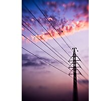 electricity of evening Photographic Print