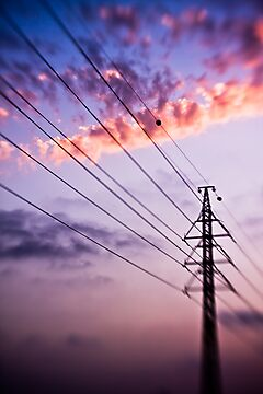electricity of evening by Victor Bezrukov