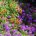 Beautiful Mixture Of Flowers by Wanda Raines