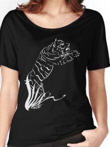 Leaping Tiger 2 white Women's Relaxed Fit T-Shirt