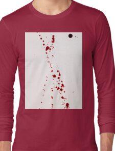 Blood Spatter 4 Long Sleeve T-Shirt