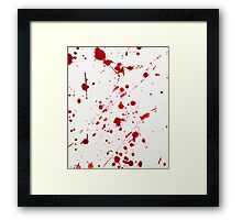 Blood Spatter 6 Framed Print