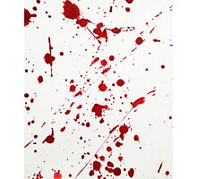 Blood Spatter 6 Photographic Print