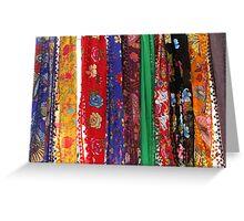 Colorful neckerchief-TURKEY Greeting Card