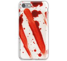 Blood Spatter 9 iPhone Case/Skin