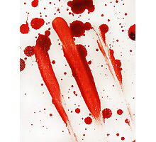 Blood Spatter 9 Photographic Print