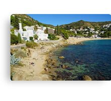 Mediterranean beach with rocks and sand in Spain Canvas Print