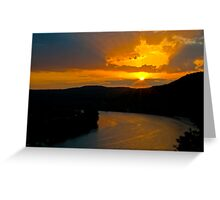 An Austin West Lake Sunset Greeting Card