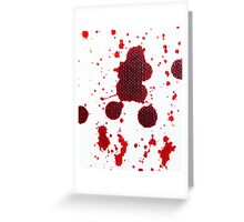 Blood Spatter Knife Drip Greeting Card
