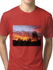 Sunset, Redland Bay, Qld, Australia Tri-blend T-Shirt