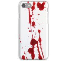 Blood Spatter Knife Cast Off iPhone Case/Skin
