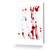 Blood Spatter Knife Cast Off Greeting Card