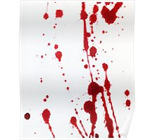 Blood Spatter Knife Cast Off Poster