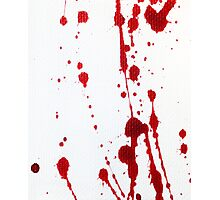 Blood Spatter Knife Cast Off Photographic Print